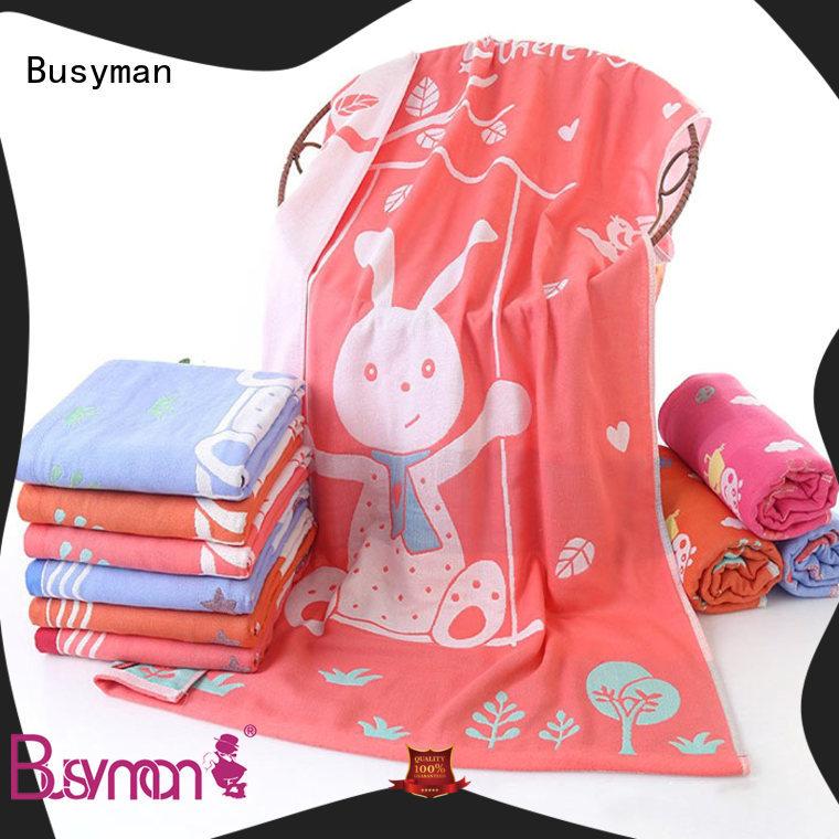 Busyman jacquard towels hotel