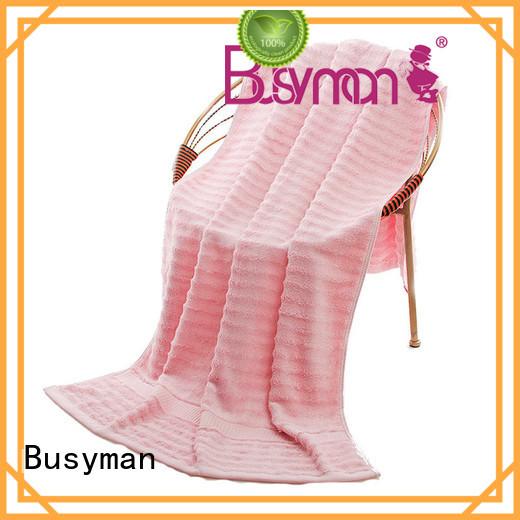 Busyman eco-friendly custom beach towels widely employed for