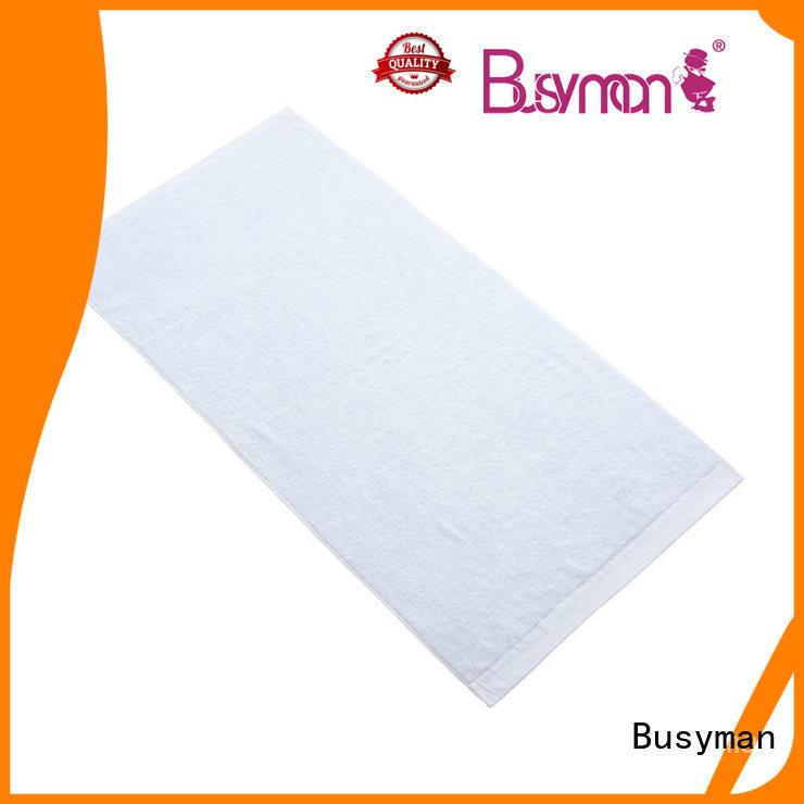 Busyman comfortable 100% bamboo bath towels beauty salon