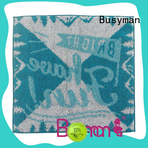 Busyman jacquard towels widely employed for home use