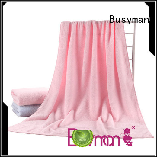 Busyman plain towel widely used for bathroom
