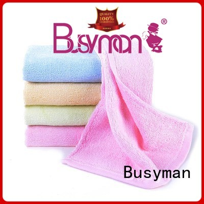 Busyman soft hand towel supplier widely applied for