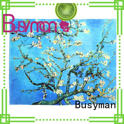 Busyman printed hand towel nice user experience for kids use