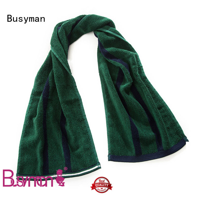 Busyman bamboo sports towel widely applied for sports