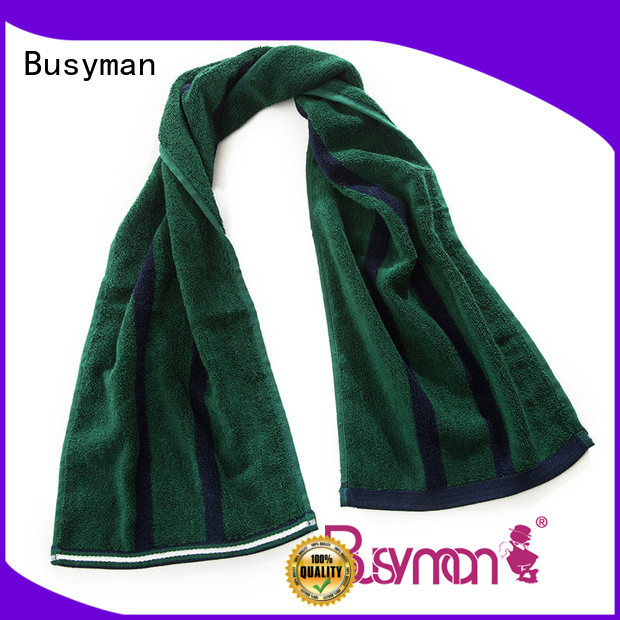 Busyman bamboo sports towel widely applied for rally