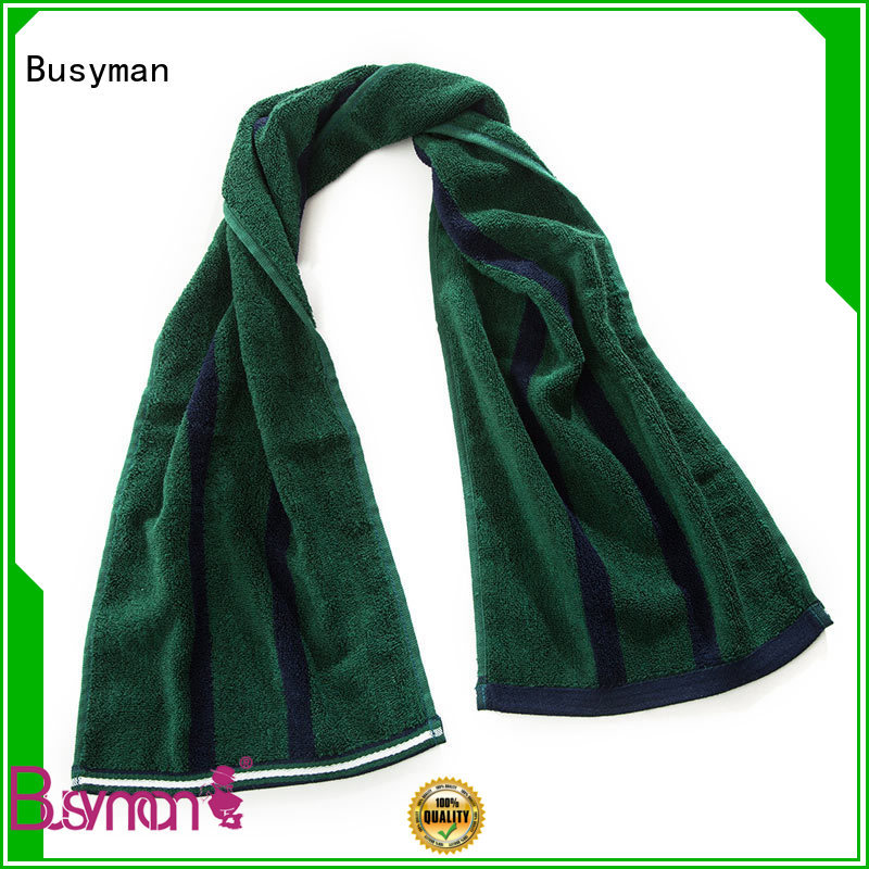Busyman natural custom gym towel best for advertising