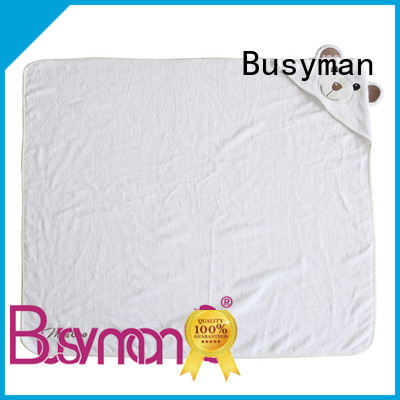 Busyman natural hooded towel supplier perfect for baby use
