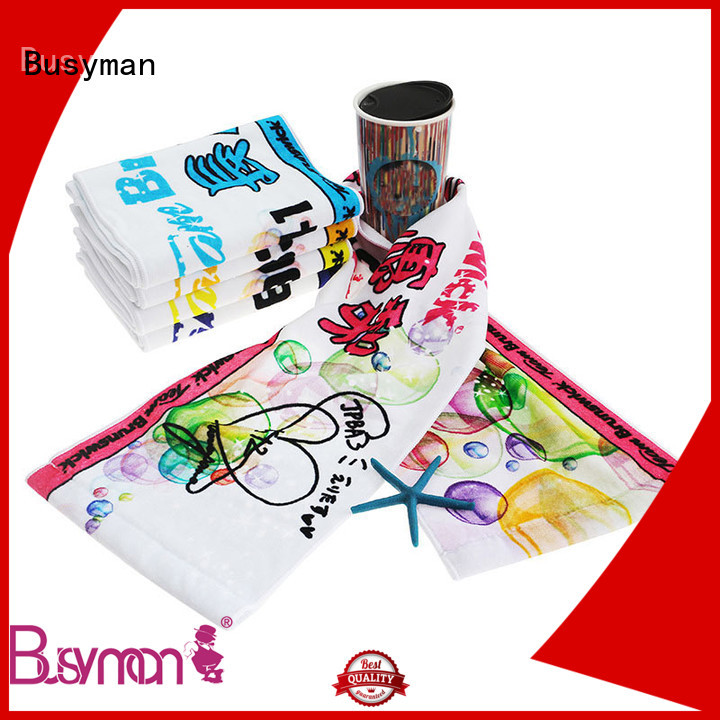 Busyman fitness towel best choice for sports
