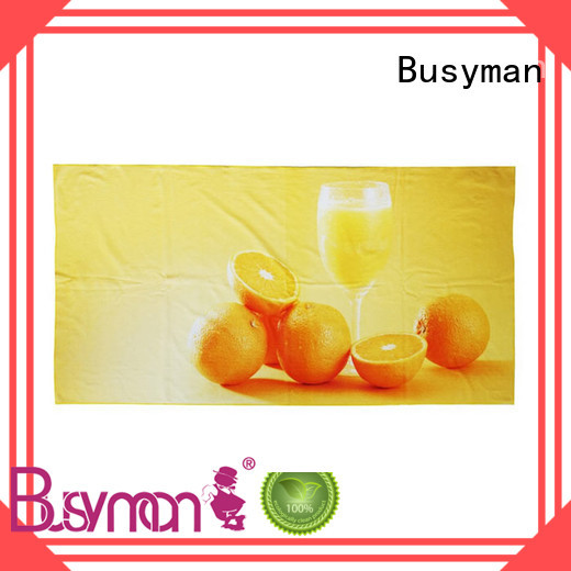 Busyman custom printed beach towels widely applied for sport facilities