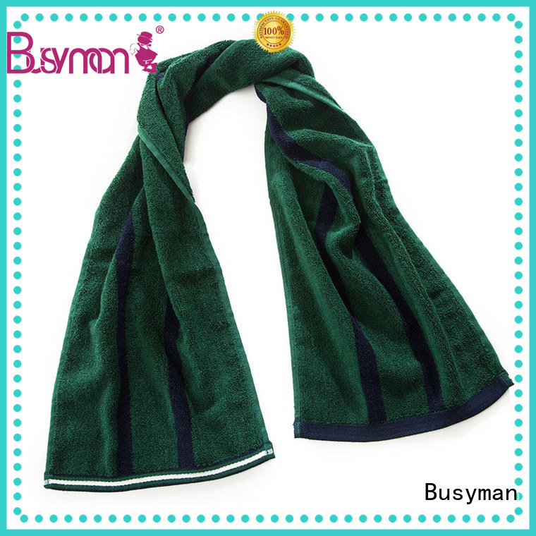 Busyman natural bamboo sports towel best for rally
