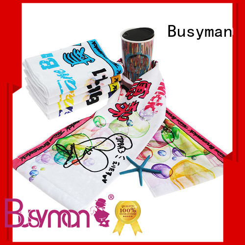 Busyman cotton gym towel great for souvenir