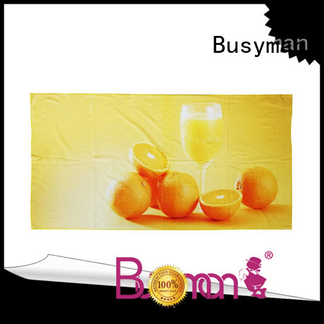Busyman soft beach towels with logo very useful for
