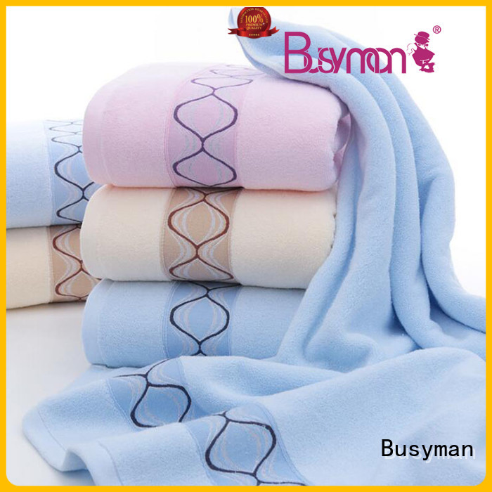 Busyman bamboo hand towel nice user experience for Baby washing face or hands